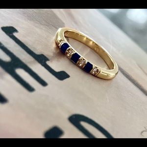 PANDORA Exotic Stones and Stripes thin band ring